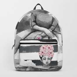 Lady with flowers Backpack