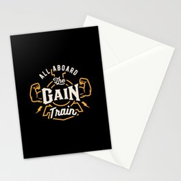 All Aboard The Gain Train Stationery Cards
