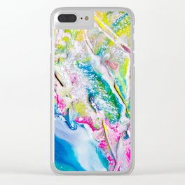 Abstract Melt II Clear iPhone Case