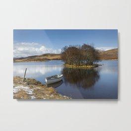 Lochside boat Metal Print