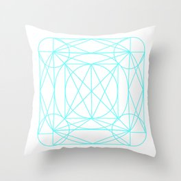 Stained Glass- Blue  Throw Pillow