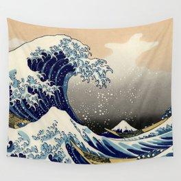 The Great Wave off Kanagawa Hokusai Wall Tapestry