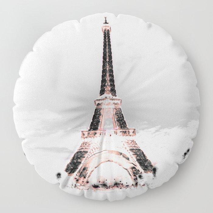 pariS Black & White + Pink copyright 2sweet4wordsDesigns Floor Pillow