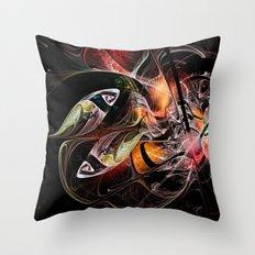 Fractal Zodiac - Pisces Throw Pillow