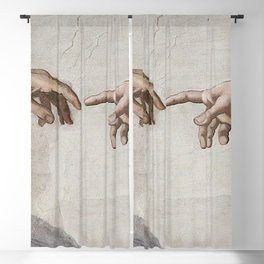 THE CREATION OF ADAM - MICHELANGELO Blackout Curtain