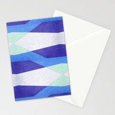 Abstract Purple Blue & Green Stationery Cards