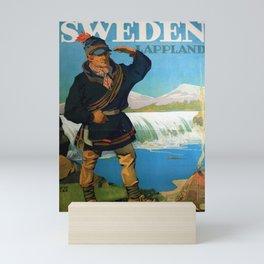 Affiche Travel Poster Sweden Lappland Sami Mini Art Print