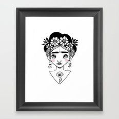 Little Frida Kahlo Framed Art Print