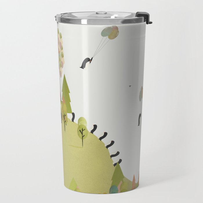 oh my how penguins fly Travel Mug