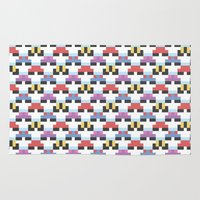 pokeball Area & Throw Rugs featuring Pokeball Pattern by Haley Martin