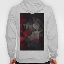Polygon red black triangles . Hoody