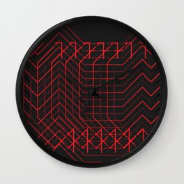 //RED Wall Clock
