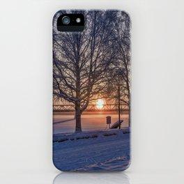 Sunset in Rovaniemi. iPhone Case