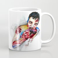 zombie Mugs featuring Zombie by Camille Ratté