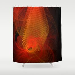 Spiraloid Shower Curtain