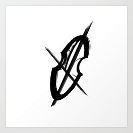 Cello Music Fan Musician Drawing Art Print