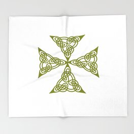 Lindisfarne St Johns Knot Grunge Throw Blanket