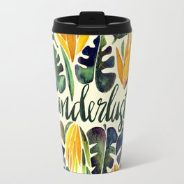 Tropical Wanderlust – Orange & Emerald Travel Mug