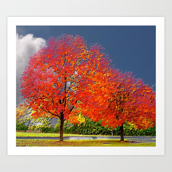 color my trees Art Print
