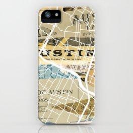 Austin map iPhone Case