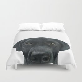 Labrador New, Acrylic painting by miart Duvet Cover