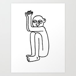 Bad Guy Art Print