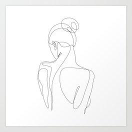 dissol - one line art Art Print