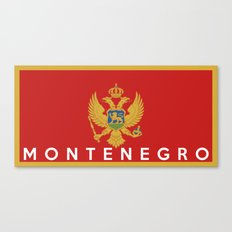 Montenegro country flag name text Canvas Print