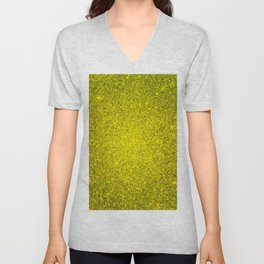 Beryl Yellow Sparkling Jewels Pattern Unisex V-Neck