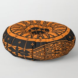 Ancestors (Orange) Floor Pillow