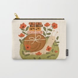 Snail Carrying Books Carry-All Pouch