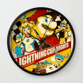 Lightning Cup Nights: The Fast & the Fungus Wall Clock