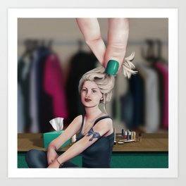 Sara & The Hand Art Print