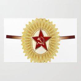 Soviet Officer Cap Badge Rug