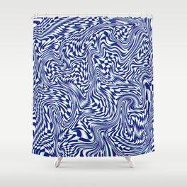 FLIPPY FLOPPY (warped geometric design) Shower Curtain
