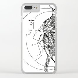 Sun and Moon II Clear iPhone Case
