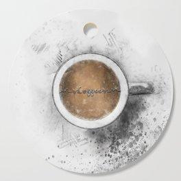 Coffee Heartbeat Cutting Board
