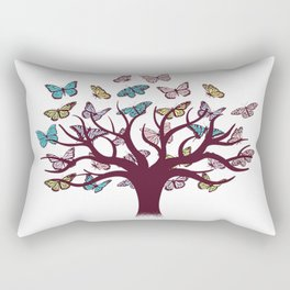 Butterflies tree Rectangular Pillow