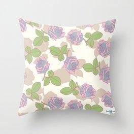 My Garden's Roses Throw Pillow