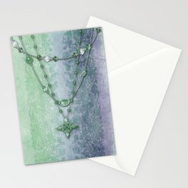 ABIGAIL'S LACE: BLUE GREEN DREAM Stationery Cards