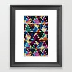 Bohemian Triangles Framed Art Print