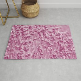 lamiaceae magenta purple tone botanical art washed out effect aesthetic photography Rug