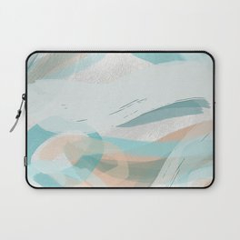 Big Abstract Paint Brush Strokes and Graphic Plaster Patterns Laptop Sleeve