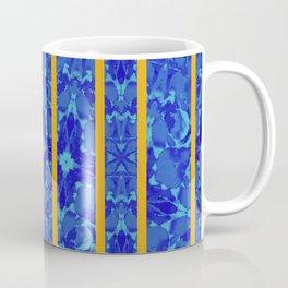 blue flower with stripes Coffee Mug