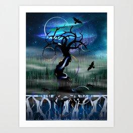 Yggdrasil & the Nine Realms Art Print