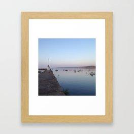 Breton Pier Framed Art Print
