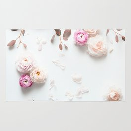 SPRING FLOWERS IN BLUSH 1 Rug