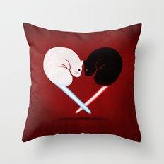 Lightside vs Darkside Throw Pillow