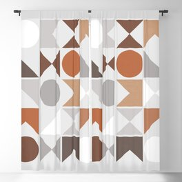 Mid Century Modern Geometric 16 Blackout Curtain