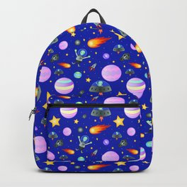 Space Alien Pattern Backpack